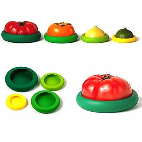 Money coming shop 4Pcs/set Assorted Food Hugger Silicone Caps Food Saver,Fruit Vegetable Preservation Tool Kitchen (Bento Halloween Ideas)