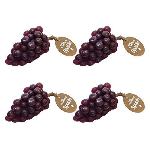 Fruit Fresh Slices - SpaLife Fresh Picked Fruit Soap 4 Pack (Purple Grapes)