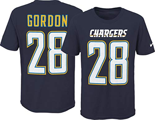 NIKE Melvin Gordon Los Angeles Chargers Youth Boys Name & Number Player T-Shirt Youth Small (8)
