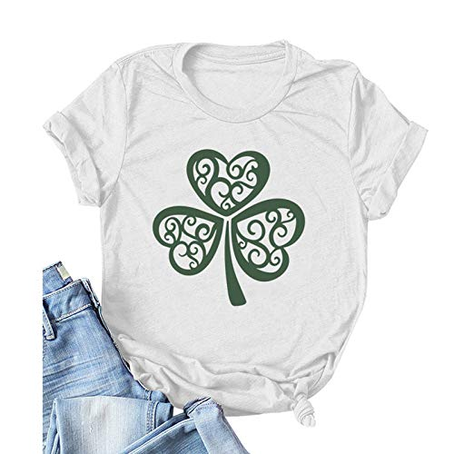 Roumin Valentines Day Shirt Women Cute Gnomes Short Sleeve T Shirts St Patricks Day Casual Tee Tops