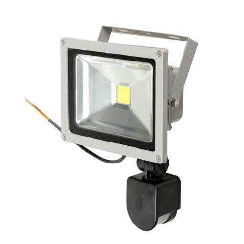 Faro da 20w con sensore di movimento faretto a led luce for Led luce bianca