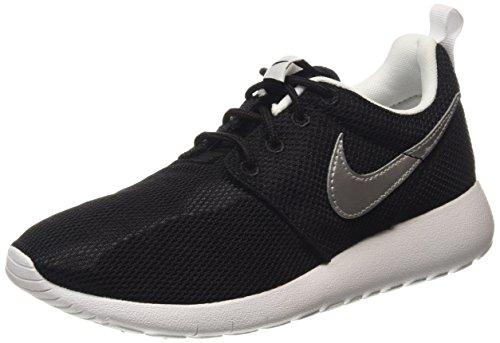 Nike Youth Roshe One (Black/Silver/White)(6 M US Big