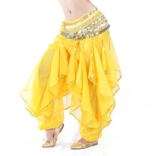 BellyLady Belly Dance Harem Pants Tribal Baggy Arabic Halloween Pants