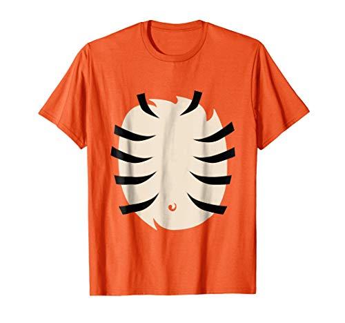 Tiger Halloween Costume Shirt for Kids Adults Orange