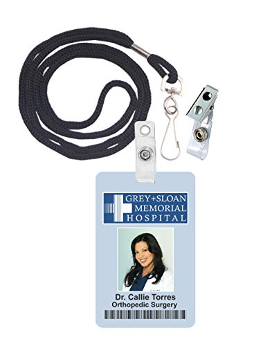 Callie Torres, Grey's Anatomy Novelty ID Badge Film Prop for Costume and Cosplay • Halloween and Party Accessories -