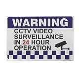 Yongse 100x150mm Internal Warning CCTV Security Surveillance Camera Decal Sticker