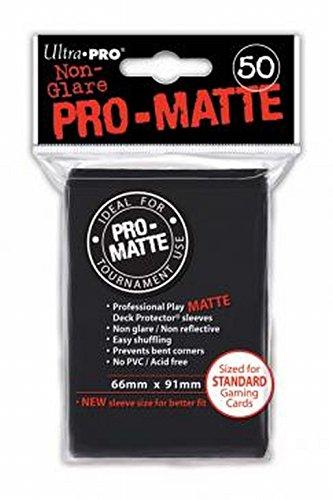 Ultra Pro 50ct Pro-Matte Black Standard Deck Protectors