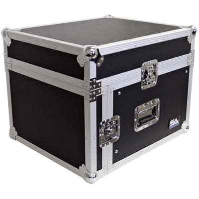 Seismic Audio - SAMRC-6U - 6 Space Rack Case with Slant Mixer Top - PA/DJ Pro Audio Road Case