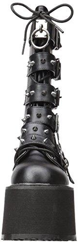 225 Vegan Leather DAMNED Blk Demonia AxfZwnB