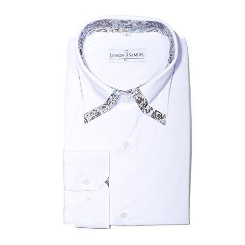 Jenson Classique Tailles M 5–48 nbsp;x L Xl Chemises 3 Coton nbsp;x nbsp;cm White 3 Samuel Régulier De Floral 4 Homme 14 Paisley Imprimé 100 2 S Designer Coupe nbsp;x Black Dc Col Shirts rx6rpgRwq8
