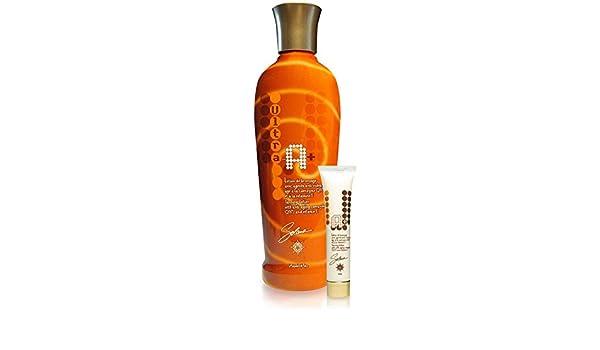 Un ULTRA + Leche Un activador de bronceado potente acelerador de bronceado para la piel seca y normal a la coenzima Q-10 y la vitamina: Amazon.es: Belleza