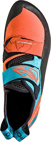 La Sportiva Zapatillas de escalada Katana  tangerine-tropic blue