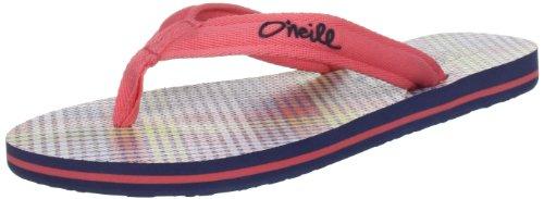 ONeill FW EVIE 209514 - Chanclas de tela para mujer, color blanco, talla 41 Azul (BLUE STRIPE BIG 5903)