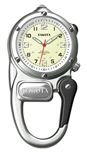 Dakota 3807-7 Mini Clip Microlight Watch, Silver
