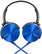 Sony XB450AP Extra Bass Headphones, Blue