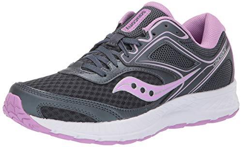 Saucony Women's VERSAFOAM Cohesion 12 Road Running Shoe, Slate/Violet, 8.5 M US ()