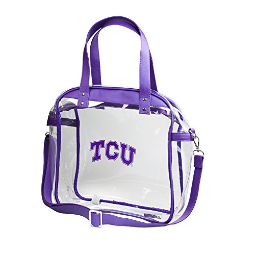 Clear Carryall Tote - Texas Christian University (TCU) Tcu Horned Frogs Clear Purse - Classic Accents Friendly Frogs