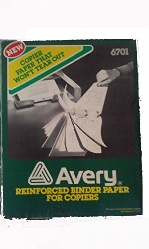 Avery 6701 Reinforced Binder Paper For Copiers 8 1/2'' x 11'' by Avery