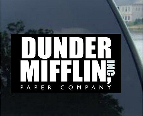 Dunder Mifflin Paper High Quality Bumper Sticker Car Decal the Office Tv Show (5″ (2 Pack))