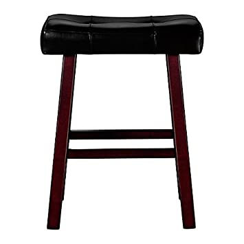 Ampersand 24u0026quot; Padded Saddle Home Bar Stool