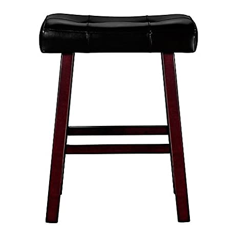 Ampersand 24u0026quot; Padded Saddle Home Bar Stool  sc 1 st  Amazon.com : padded saddle bar stools - islam-shia.org