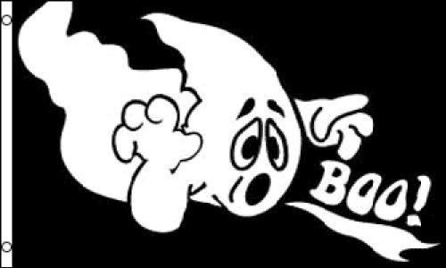 Halloween Ghost Boo Flag 3x5ft (3 Halloween Symbols)