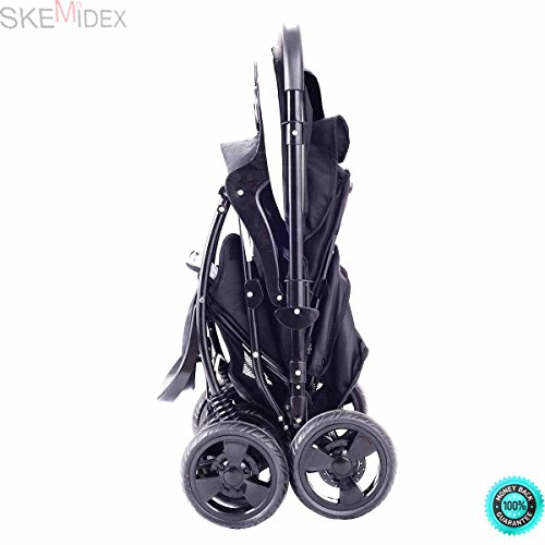 SKEMiDEX---Two Way Foldable Baby Kids Travel Stroller Newborn Infant Pushchair Buggy Black This is our new Two Way Foldable baby stroller, which has two colors, including blue and black by SKEMiDEX