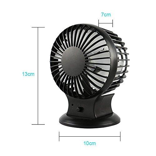Small Travel Fan : Extsud rechargeable usb desk fan powerful airflow