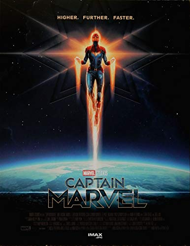 (Captain Marvel (Poster) AMC Imax Exclusive Limited Original (Not a Reprint) Movie Promo Poster 8.5