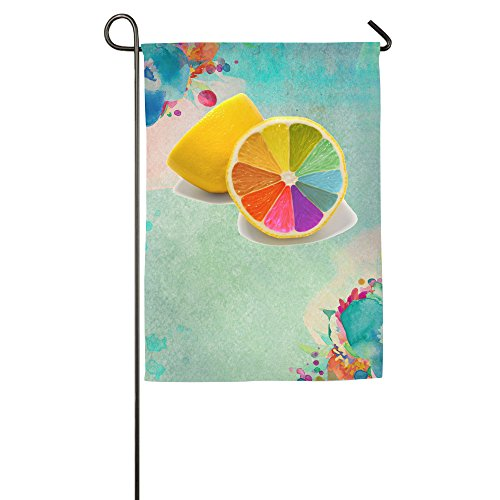 [Umison Rainbow Lemon Decorative Garden Flag Classic Family Flag 1827inch] (Angel Costume Tumblr)