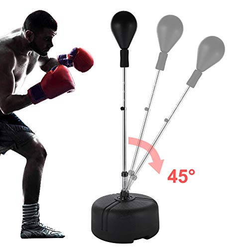 shaofu Free Standing Punching Bag Reflex Bag Cobra Bag Boxing Bag with Stand for Adults Kids (US ()