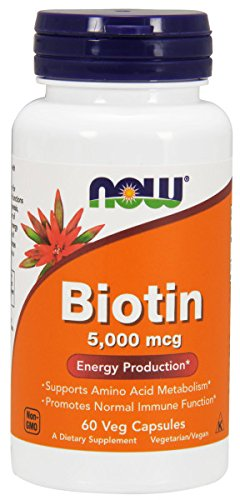 Biotin- 5,000 mcg 60 Veg Capsules by Now Foods