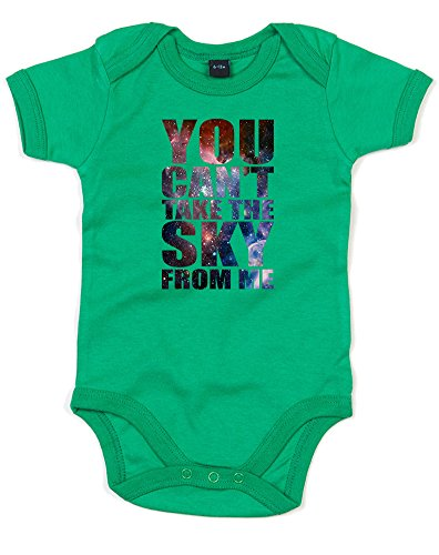 Print Wear Clothing You Can't Take The Sky From Me, Printed Baby Grow - Kelly Green/Transfer 3-6 Months]()