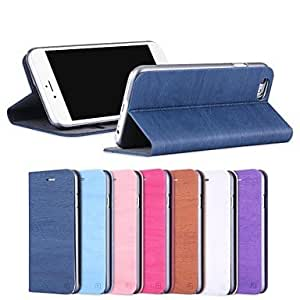 YXF Wood Grain PU Leather Full Body Case with Strap and Sticker for iPhone6Plus (Assorted Colors) , Brown
