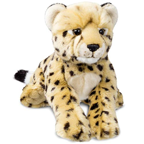 (FAO Schwarz Cheetah Cub Toy Plush 12 Inches, Ultra Soft and Snuggly Doll for Educational, Creative, and Imagination Play, for Boys, Girls, & Children Ages 3 and Up, Nature Theme Playroom & Nursery)