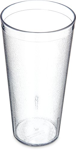 Carlisle 5224-8107 BPA Free Plastic Stackable Tumbler, 24 oz., Clear (Pack of 6) (Stackable Tumblers Plastic)