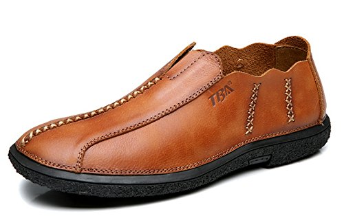 TBA Mens leather loafers Brown