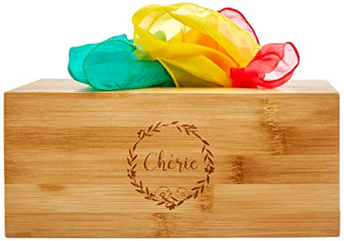 Baby Tissue Box Toy with Colorful Scarves