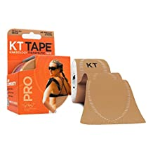 """KT Tape PRO Kinesiology Sports Tape, 20 Precut 10"""" Strips, Water Resistant, Pro & Olympic Choice"""