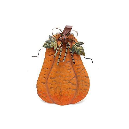 Pumpkin Decoration for Home, Free Standing Metal Flat Pumpkins for Autumn Fall Thanksgiving Harvest Halloween Home Decor (S-A)