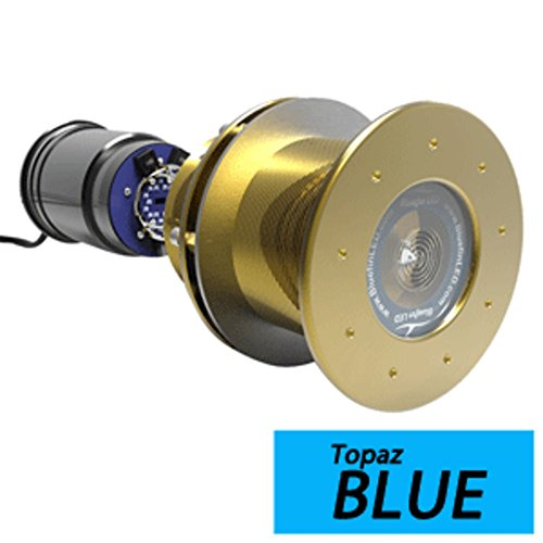 - Bluefin LED Great White GW16 Thru-Hull Underwater LED Light - 5600 Lumens - Topaz Blue Marine , Boating Equipment