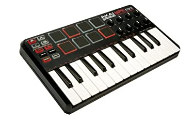 Akai Professional MPK Mini 25-Key Ultra-Portable USB MIDI Keyboard Controller (OLD MODEL)