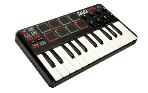 Akai Professional MPK Mini 25-Key Ultra-Portable USB MIDI Keyboard Controller