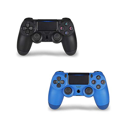 (PS4 Controller 2 Pack - DualShock 4 Wireless Controller for Playstation 4 (Blue + Black))