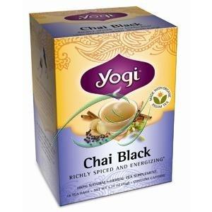 Chai noir, Caféine, 16 sachets de thé, 1,27 oz (36 g), à partir Yogi Tea