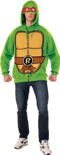 Rubie's Costume Men's Teenage Mutant Ninja Turtles Adult Raphael Hoodie, Green, X-Large - Raphael Hoodie Adult Costumes