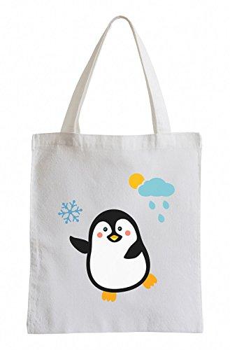 Raxxpurl Tanzender Pinguin Fun Jutebeutel