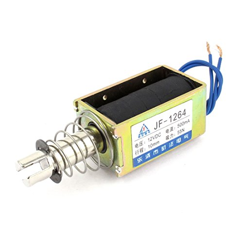 Uxcell DC12V 500mA 55N Push Type Open Frame Actuator Solenoid, Electromagnet