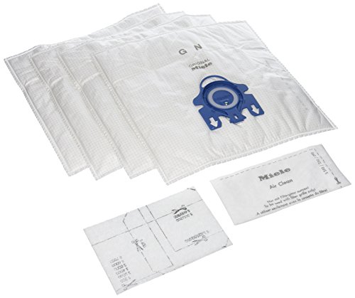 Miele GN Replacement Dustbags (4 AirClean FilterBags, 1 motor protection filter, 1 AirClean Filter)(Pack of 2)