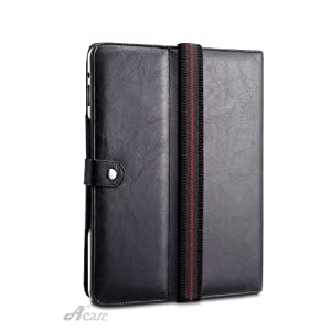 Acase Pure Hand Made Leather Case for Apple Ipad 3g/wifi 16gb, 32gb, 64gb with Multi-position kick stand by Acase